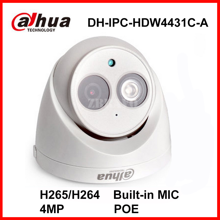 Dahua 4MP Full HD 1080 P DH-IPC-HDW4431C-A Network IP Mini Kamera POE Dahili Mic CCTV Dijital Dome Kamera H.265 Kapalı Ses IP