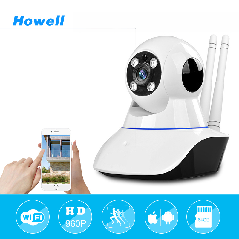 Howell Wifi Kamera HD 960 P IP Wi-Fi Kablosuz Ev Güvenlik mini CCTV Kamera Onvif 2.0 P2P Video Gözetim Bebek Camara Webcam