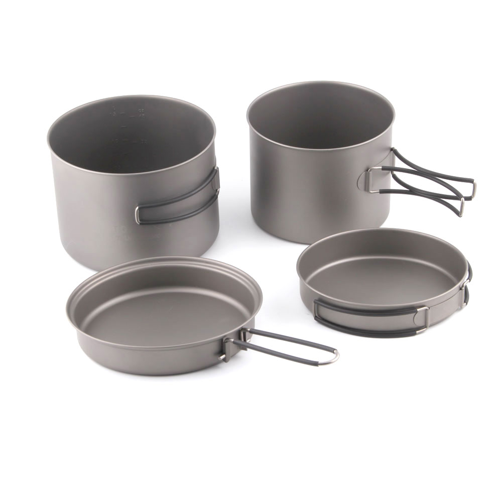 CMB-1600-1300 TOAKS Titanyum 1600 ml Pot ve 1300 ml Pot Combo Set
